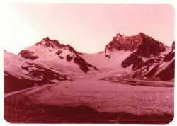 The view from the upper portal, Granduc Mine, 1976
