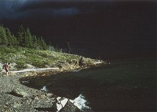 Lake Laberge, Yukon - the approach of a massive storm