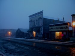 A foggy night in Dawson City