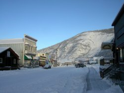 Fresh snow in Dawson City