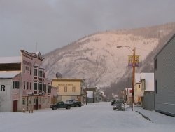 Winter light in Dawson City