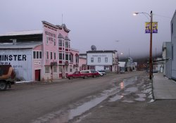 A cold, misty Fall morning in Dawson City