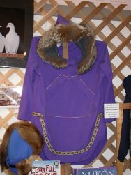 A fur-trimmed anorak made by Cathy Wylie of Dawson