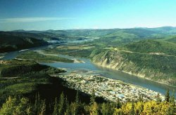 Dawson City, seen from the Midnight Dome