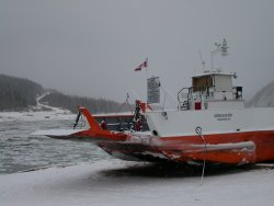 Dawson ferry in the winter