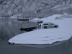 The Yukon River in the winter