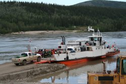 The ferry George Black, Dawson City