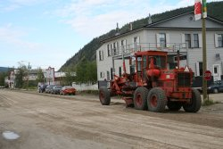 Mud streets in Dawson City