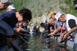 Gold panning at Dawson City, Yukon