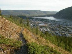 Hiking above Dawson City