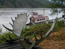 The sternwheeler Yukon Lou at Pleasure Island, Yukon
