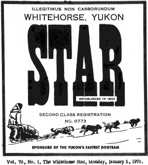 The Whitehorse Star, January 5, 1970