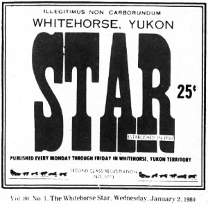 The Whitehorse Star, January 2, 1980