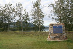 Bonnet Plume River / Canadian Heritage Rivers System monument in Mayo, Yukon