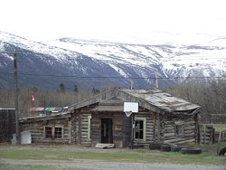 Log cabin at Champagne, Yukon