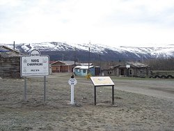 Interpretive signage at Champagne, Yukon