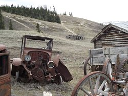 Antique truck at Champagne, Yukon