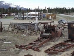 Antique trucks at Champagne, Yukon