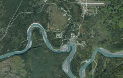 Mayo, Yukon, as seen on Google Earth