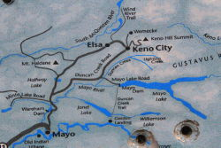 Map of the Mayo-Keno area, Yukon