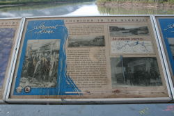 Stewart River interpretive sign at Mayo, Yukon