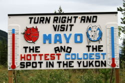 Mayo, Yukon - hottest and coldest place in the Yukon