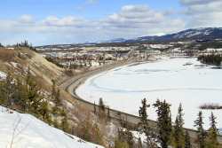 The Big Bend of the Yukon River at Whitehorse, Yukon