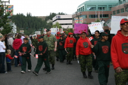 Canada Day parade at Whitehorse, Yukon