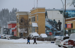 Winter on Elliott Street in Whitehorse, Yukon