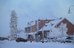 Winter on Front Street in Whitehorse, Yukon