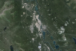 Whitehorse, Yukon from Google Earth