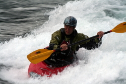 Whitewater kayaking at Whitehorse, Yukon