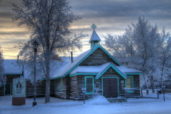 Old Log Church Museum at Whitehorse, Yukon