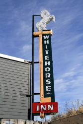 1950s neon sign from the Whitehorse Inn