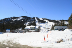 Spring at the Mount Sima ski hill