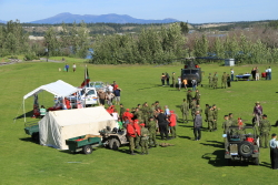 Military show at Shipyards Park in Whitehorse, Yukon