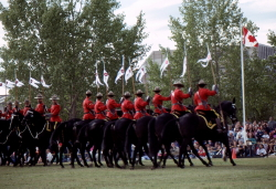 RCMP Musical Ride at Whitehorse, Yukon