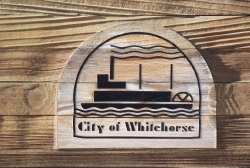 The sternwheeler logo of Whitehorse, Yukon