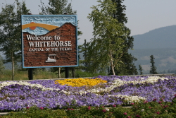 Welcome to Whitehorse sign