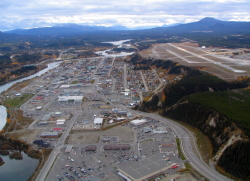 Aerial view of downtown Whitehorse, Yukon