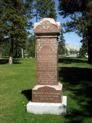 Memorial to the victims of the explosion of the Yukon River Sternwheeler Columbian